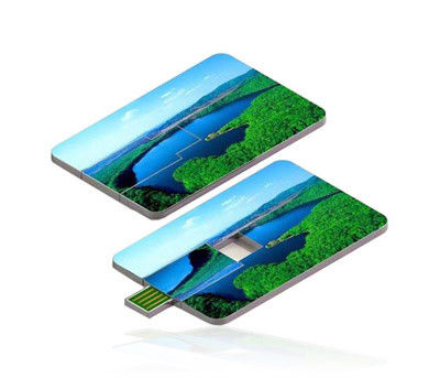 Custom Printed Credit Card USB Drive High Speed With Full Color