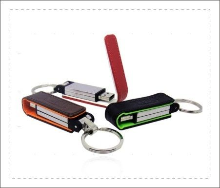 Poratble Usb Flash Drive Leather Case 100 Thousand Times Read And Write